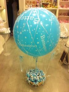 Invece dei soliti cesti per mettere le vostre belle bomboniere....una mongolfiera!!!!